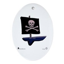 """Jolly Roger"" Oval Ornament"