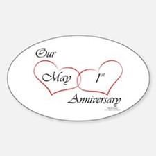 May 1st Anniversary Oval Decal