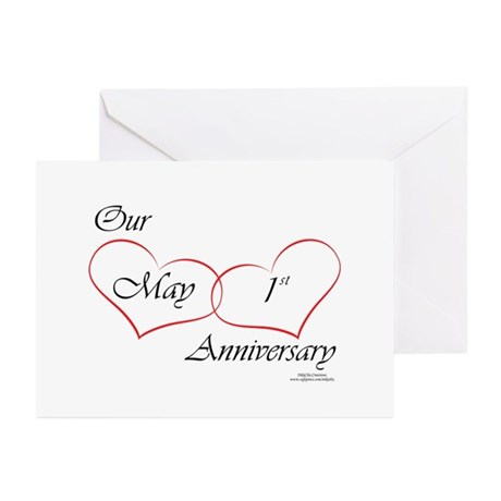 May 1st Anniversary Greeting Cards (Pk of 10)