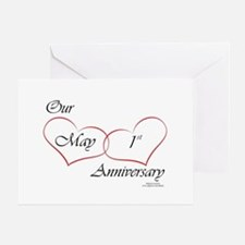 May 1st Anniversary Greeting Card