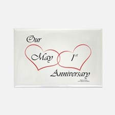 May 1st Anniversary Rectangle Magnet