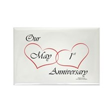 May 1st Anniversary Rectangle Magnet (10 pack)