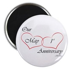 May 1st Anniversary Magnet