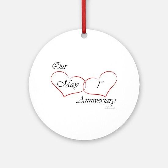 May 1st Anniversary Ornament (Round)