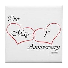 May 1st Anniversary Tile Coaster