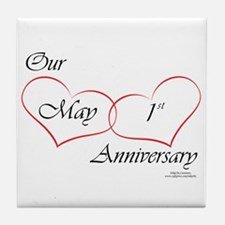 May 1st Anniversary Tile Coaster