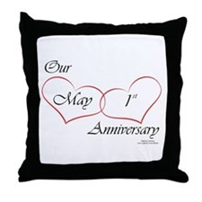 May 1st Anniversary Throw Pillow