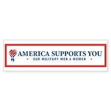 America Supports You! Bumper Bumper Sticker