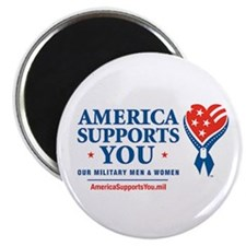 """America Supports You! 2.25"""" Magnet (100 pack)"""