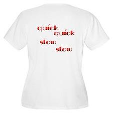 Quick Slow Design #113 Women's Plus Size Scoop Tee