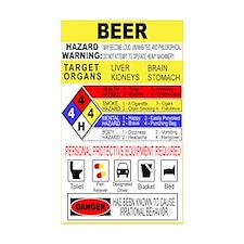 Warning Beer Hazardour Materi Rectangle Sticker 5