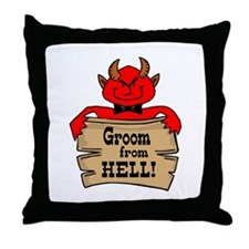 Groom From Hell Throw Pillow