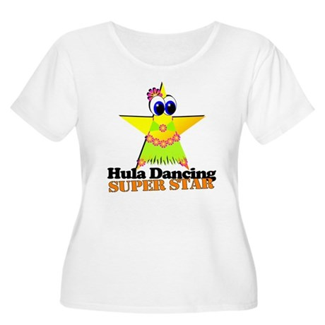 Hula Dancing Super Star Women's Plus Size Scoop Ne