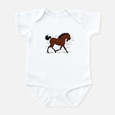 Bay Horse Anatomy Chart Infant Bodysuit