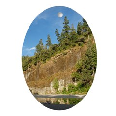 Eel River Cliff Oval Ornament