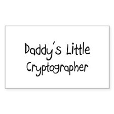 Daddy's Little Cryptographer Rectangle Decal