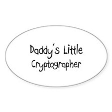 Daddy's Little Cryptographer Oval Decal