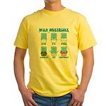 Milk Mustaches Yellow T-Shirt