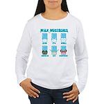 Milk Mustaches Women's Long Sleeve T-Shirt