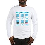 Milk Mustaches Long Sleeve T-Shirt