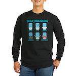 Milk Mustaches Long Sleeve Dark T-Shirt