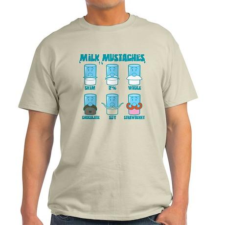 Milk Mustaches Light T-Shirt