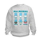 Milk Mustaches Kids Sweatshirt