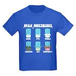 Milk Mustaches Kids Dark T-Shirt