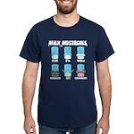 Milk Mustaches Dark T-Shirt