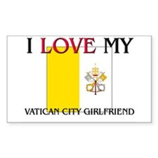 I Love My Vatican City Girlfriend Decal