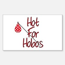 Hot for Hobos Rectangle Decal