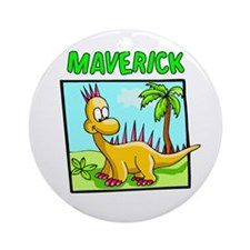 Maverick Dinosaur Ornament (Round)