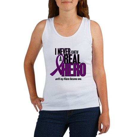 Never Knew A Hero 2 Purple (Niece) Women's Tank To