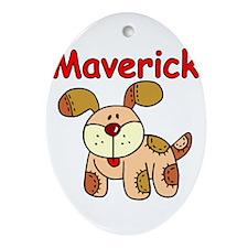 Maverick Puppy Oval Ornament