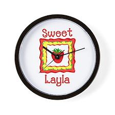 Sweet Layla Wall Clock