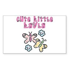 Cute Little Layla Rectangle Decal