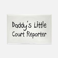 Daddy's Little Court Reporter Rectangle Magnet