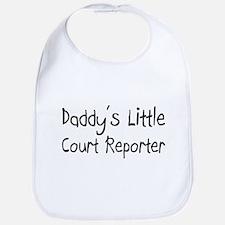 Daddy's Little Court Reporter Bib
