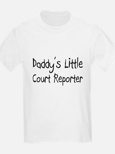 Daddy's Little Court Reporter T-Shirt