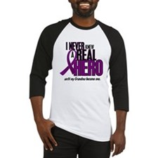 Never Knew A Hero 2 Purple (Grandma) Baseball Jers