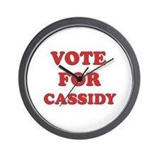 Vote for CASSIDY Wall Clock