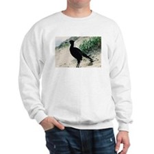 Australian Magpie on Beach Sweatshirt