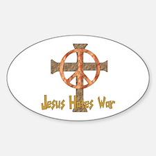 Jesus Hates War Oval Decal
