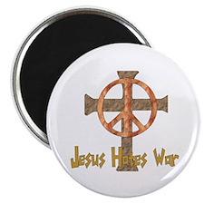 Jesus Hates War Magnet