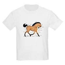 Buckskin Dun Horse Anatomy Chart T-Shirt