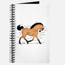 Buckskin Dun Horse Anatomy Chart Journal