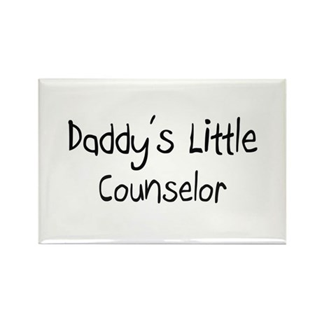 Daddy's Little Counselor Rectangle Magnet (10 pack