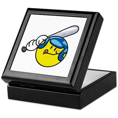 Smile Face Baseball Keepsake Box