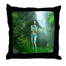 Funny Faeries Throw Pillow