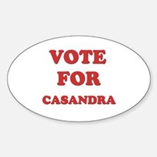 Vote for CASANDRA Oval Decal